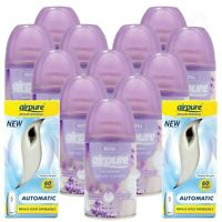 12 X AIRPURE AIR FRESHNER SPRAY REFILLS LAVENDER MOMENTS SCENT 2 MACHINES