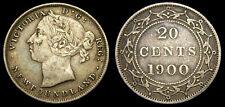 Canada 1900 Newfoundland Twenty 20 Cent Piece Toned VF-25