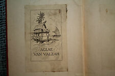 Antique old bookplate AGLAE VAN VALZAH In ANATOLE FRANCE HIMSELF JEAN JACQUES