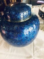 VINTAGE BEAUTIFUL BLUE Cloisonné Vase