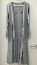 Blending Cashmere Long Grey cardigan coat Size M