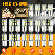 20x Warm White 1156 13 Smd Led Rv Camper Trailer Interior Light Bulbs 1141 12v