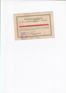 Zeppelin: Einladungskarte der Stadt Baden für Luftschiffkapitän Hacker von 1911