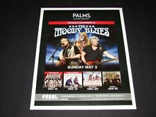 """The Moody Blues Live In Concert Las Vegas Matted Concert Ad/Art 15"""" x 12"""" NEW"""