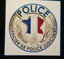 French  Officier de Police Judiciaire `O.P.J.`   MAGNETIC SIGN + DGSE STICKER