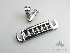 Wilkinson Licensed Adjustable Wraparound Stop Tailpiece for Les Paul Chrome