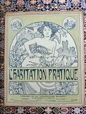 ALPHONSE MUCHA - ORIGINAL VINTAGE MAGAZINE COVER - L'HABITATION - 1903