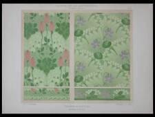 PROJETS DE TENTURE, EMILE BAEYENS -1901- LITHOGRAPHIE, ART NOUVEAU, FLEURS