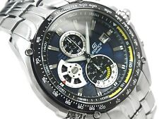 CASIO EDIFICE Chronograph 100M EF543D-2A EF-543D-2A Navy Sports Free Ship !