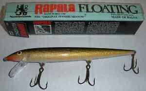 "Rapala F18G 7"" Large Floating Minnow Gold 12154"