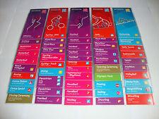 Juegos Olímpicos de Londres 2012 muy raro conjunto completo de 51 guías espectador