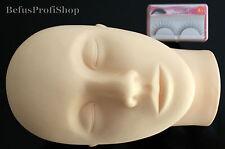 Übungskopf + Übungswimpern Wimpernverlängerung Eyelash Extensions Trainingskopf