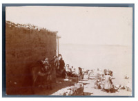 Egypte, Désert de Saqqarah. Maison de Mariette  Vintage citrate print Tira