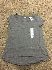 NWT Old Navy Girls Hi-Lo T-Shirt Size Small ~Color Gray