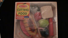NEW Melissa & Doug Cutting Food Play Set Wooden Pieces Knife & Cutting Board