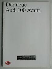 Prospectus AUDI 100 avant de premiere, 4.1983, 34 pages