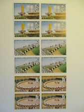 More details for  zambia 1974. 10th anniversary of independence. 6 blocks mnh