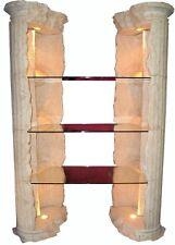 Vitrine Säule Bücherregal Verkaufsregal Griechische Möbel Glas Regal Fossilmöbel