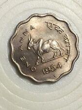 India One Anna 1954 Unc