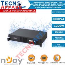 Gruppo di Continuità UPS 2000VA Line Interactive Per Armadio Rack 2U Njoy Code