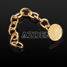 Dental Orthodontic Traction Chain Gold Plated Round Buttons Chain 10PC/BAG