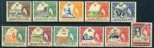 "1954 Basutoland MLH OG complete long set of 11 stamps ""Local Scenes"" YT 46-56"