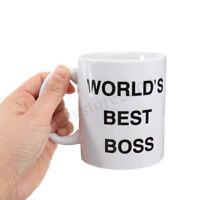 Dunder Mifflin Worlds Best Boss Funny Coffee Mug Mugs Cup Gift Present for Boss