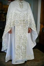 Orthodox priest vestments set, white.