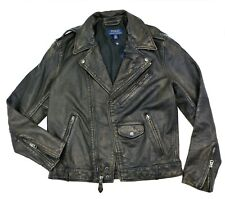 New POLO RALPH LAUREN Leather Biker Jacket Men's Size M $998 MSRP