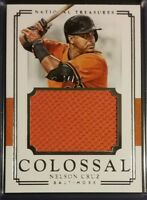 2017 National Treasures Colossal Materials NELSON CRUZ Jersey Relic /99