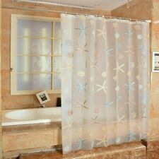180 CM Waterproof Shower Curtain with 12pcs Hooks Home Starfish Sea Shell Modern