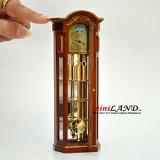 WORKING DOLLHOUSE MINIATURE GRANDFATHER CLOCK Walnut V4010C-NWNG 1:12