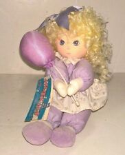 """Applause ~ Emily Musical Doll #5945 ~I Whistle A Happy Tune ~8"""" tall ~ Lavender"""