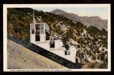 c.1910 Mt.Lowe pacific railway cable car incline advertising California postcard