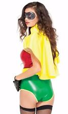 Yellow Superhero Cape with Collar and Adjustable Tie Closure Costume 992308