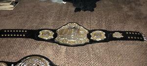 AUTHENTIC UFC Belt Signed Daniel Cormier & Cain Velasquez - Pride Fc MMA WEC