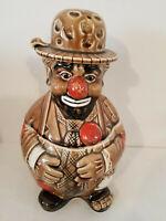 Emmett Kelly Ceramic Cookie Jar Japan 12 x 7 inches Original Vintage Clown