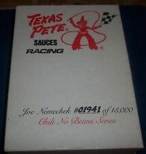 JOE NEMECHEK TEXAS PETE 1/64 SCALE #87 CAR WITH METAL CARD