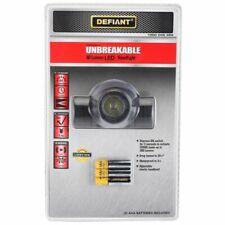 Defiant Unbreakable 80-Lumen LED Headlight Head Lamp AAA Batteries Included