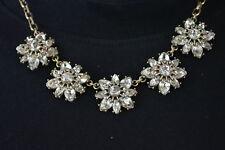 Nordstrom Joe Fresh Women Brass Embellished Stone Chain Necklace Fashion Jewelry