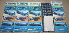 Lot of 4…U.S. NAVAL PLANE (Hasegawa #WL-100) 1/700 Water Line Series Model Kits