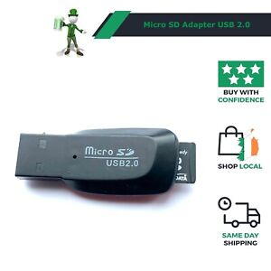 Memory Card Reader - Adapter for Micro SD SDHC SDXC to USB 2.0 - New