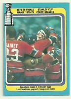 1979 79-80 OPC O-PEE-CHEE STANLEY CUP FINALS CANADIENS #83 EXCELLENT OC