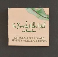 Mint Vintage Matchbook Beverly Hills Hotel and Bungalows Beverly Hills - Unused