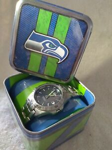 Seattle Seahawks NFL Stainless Steel Watch by Fossil NEW