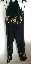 BNWT Joseph Ribkoff  Vintage 2 Pc top and  trousers Black&Gold  Sequins UK 14