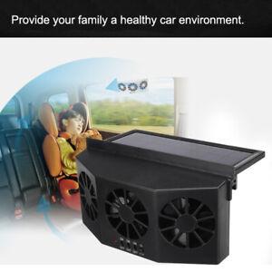 3 Fan Solar Sun Powered Car Auto Vehicle Window Air Vent Exhaust Ventilation