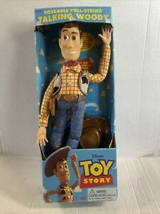 Toy Story Poseable Pull-String Talking Woody (Non-Working) Thinkway 1995 Disney