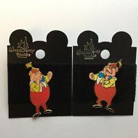 Tweedledee and Tweedledum from Alice in Wonderland 2 Pin Set Disney Pin 468 469