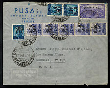 1949 Trieste Italy AMG FTT Commercial Cover to USA
